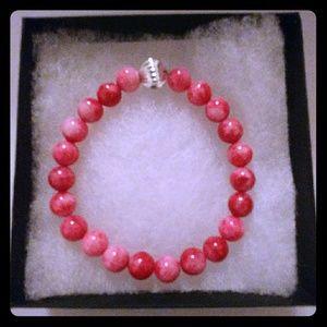 Jewelry - Red & Pink Jade Stone Bracelet